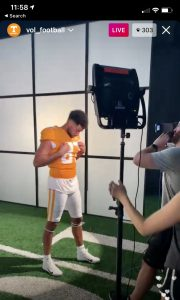 Tennessee Uniform White Cleats