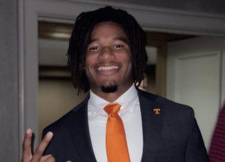 Tennessee wide receiver Velus Jones Jr. at SEC Media Days 2021